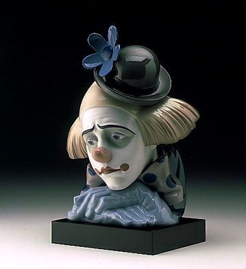 Lladro Pensive Clown 1982-00 Porcelain Figurine