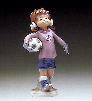 Lladro Lilly Soccer Player Le 1982-83 Porcelain Figurine