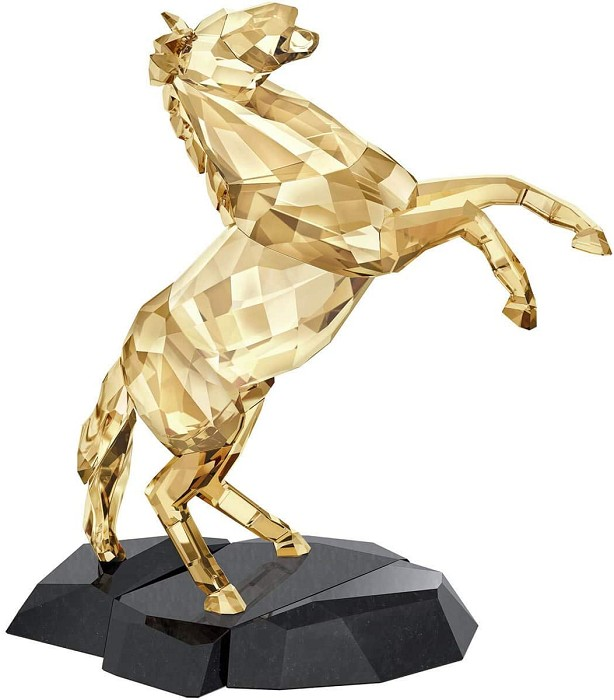 Swarovski Crystal Stallion Gold Tone