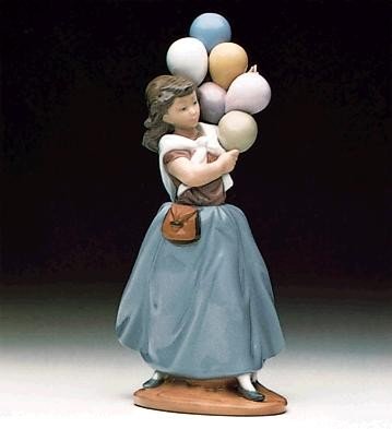 Lladro Balloons For Sale 1982-96 Porcelain Figurine