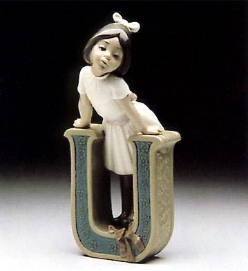 LladroVowel UPorcelain Figurine