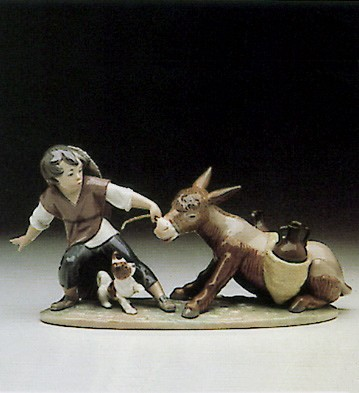 LladroStubborn Donkey 1982-93Porcelain Figurine