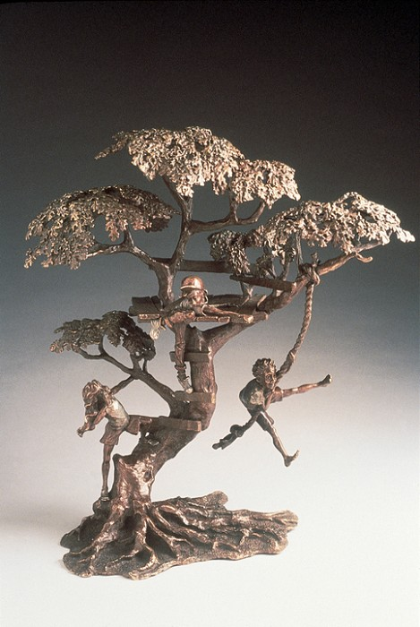 Mark Hopkins Treehouse Bronze Sculpture