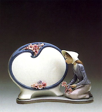 LladroA Thought For Today Plaque 1984-86Porcelain Figurine