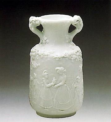LladroMinature Decorated Vase 1984-88