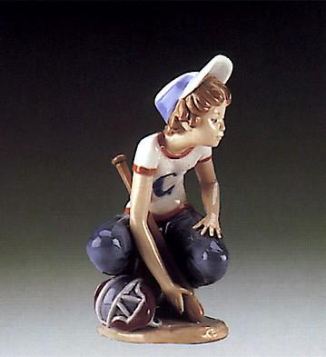 LladroBaseball Catcher 1985-90Porcelain Figurine