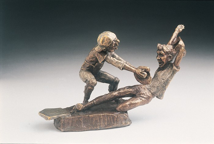 Mark Hopkins Close Call Bronze Sculpture
