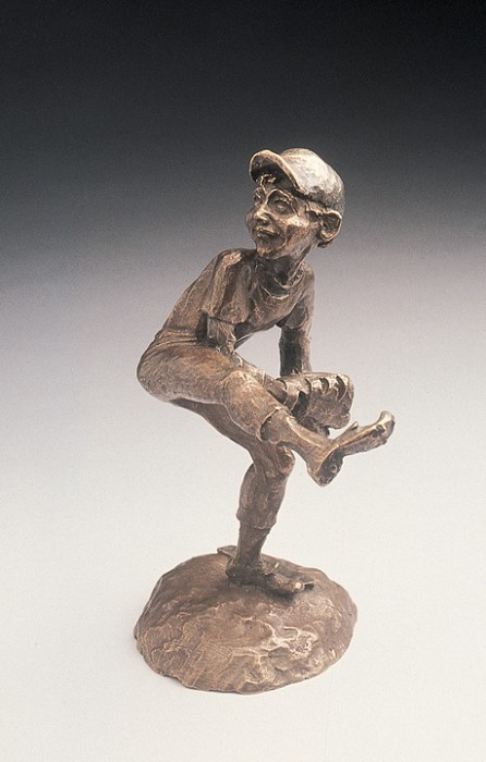 Mark Hopkins Fastball Bronze Sculpture