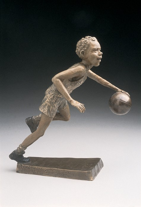 Mark Hopkins Fast Break Bronze Sculpture