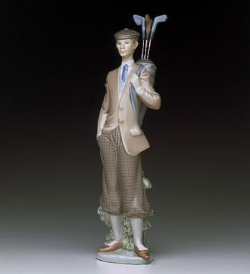 Lladro Waiting To Tee Off 1985-99 Porcelain Figurine