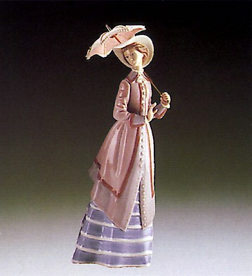 LladroParisian Lady 1985-95Porcelain Figurine