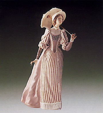 Lladro English Lady 1985-94 Porcelain Figurine