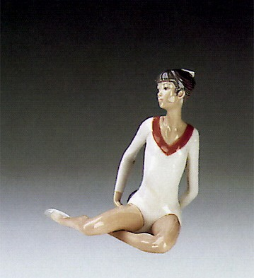 Lladro Gymnast Exercise With Ball 1985-88 Porcelain Figurine