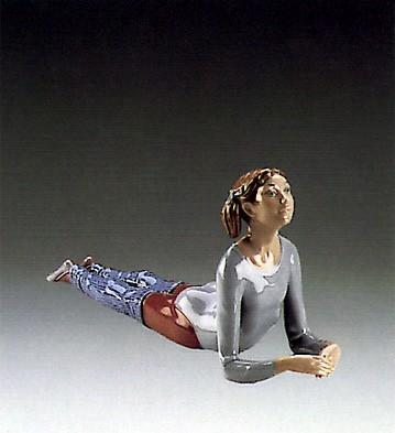 LladroAerobic Floor Exerciser 1985-88Porcelain Figurine