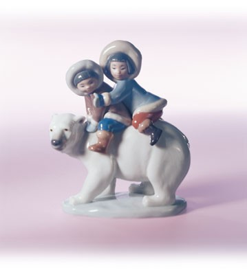 Retired Lladro Eskimo Riders