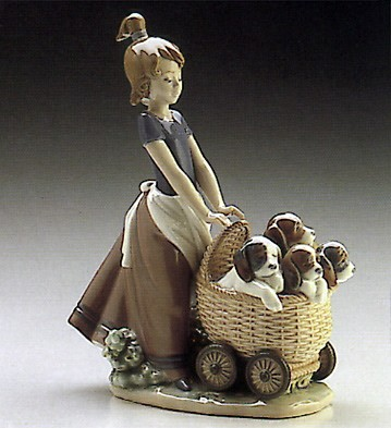 LladroLitter Of Fun 1986-00Porcelain Figurine