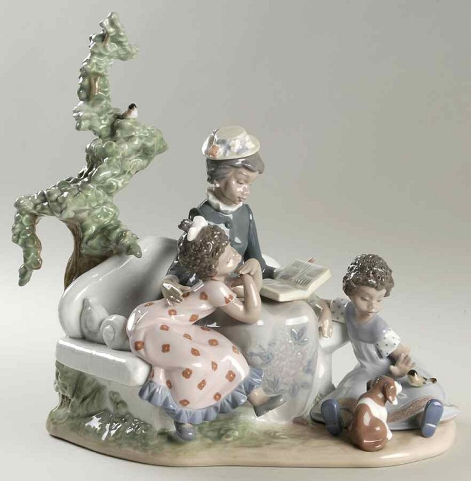 Lladro Black Legacy Family Roots Porcelain Figurine