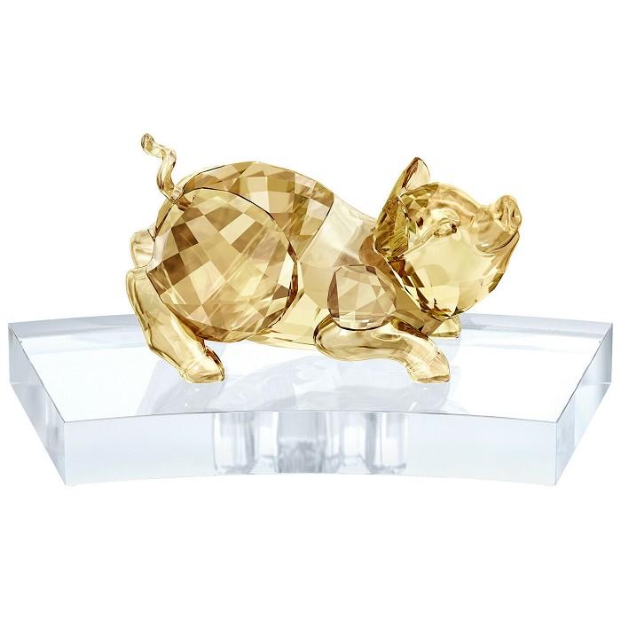 Swarovski CrystalChinese Zodiac - Pig GOLD