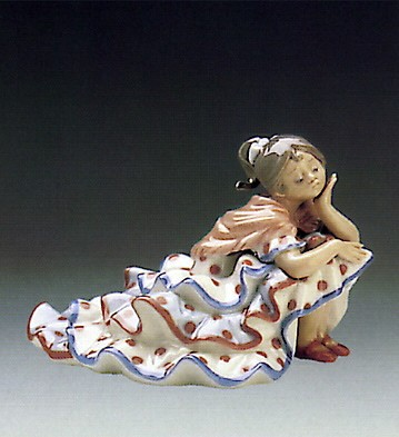 Lladro Deep In Thought 1986-90 Porcelain Figurine