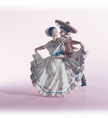 Retired Lladro Mexican Dancers