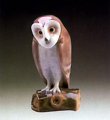 LladroBarn Owl 1987-90Porcelain Figurine