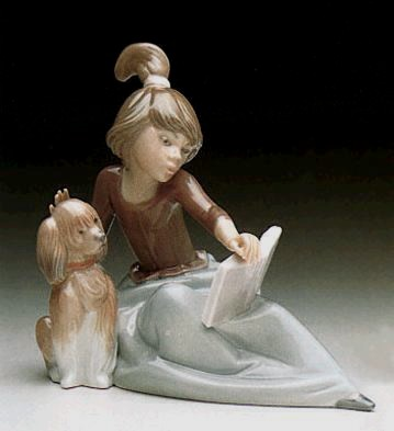 Lladro A Lesson Shared 1988-97 Porcelain Figurine