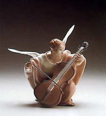 Lladro Heavenly Cello 1988-93 Porcelain Figurine