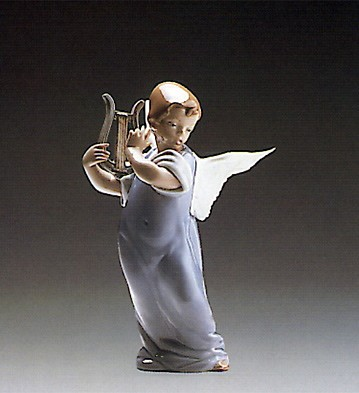 Lladro Heavenly Lute 1988-93 Porcelain Figurine