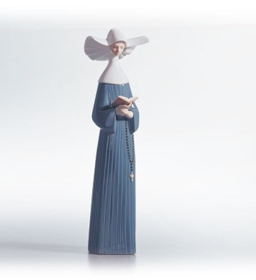 Lladro Prayful Moment (white) 1988-91