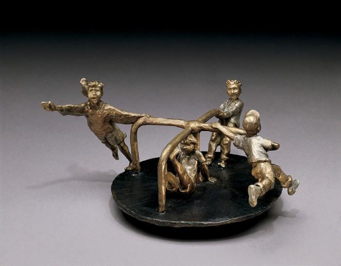 Mark HopkinsRound and Round!Bronze Sculpture