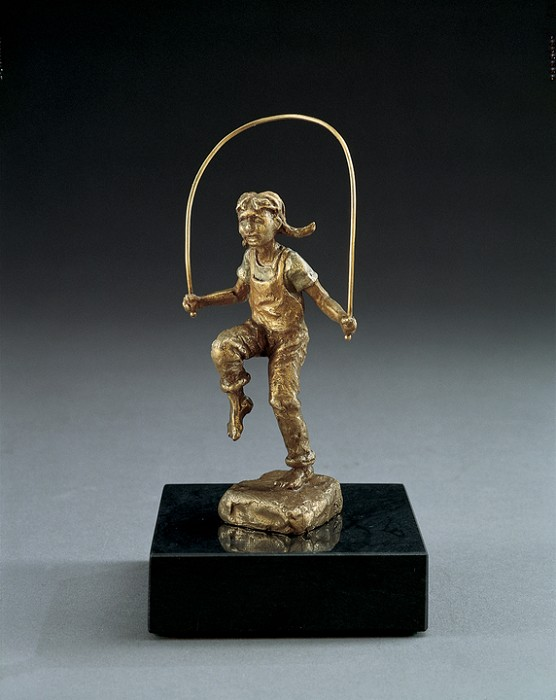Mark Hopkins Skippin' Rope Bronze Sculpture