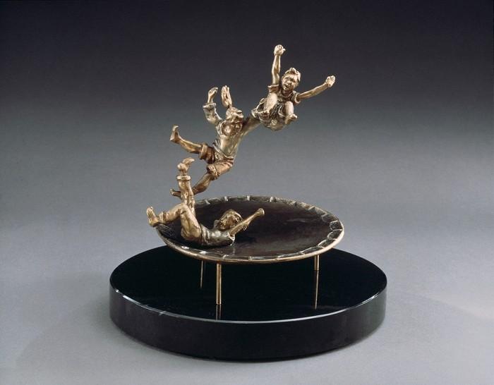 Mark HopkinsJumpinBronze Sculpture
