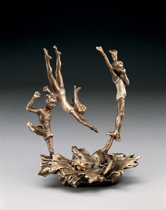 Mark HopkinsLast One InBronze Sculpture