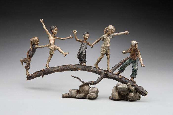 Mark HopkinsBalancing ActBronze Sculpture