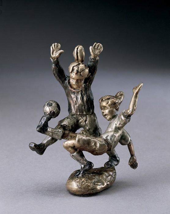 Mark HopkinsGoal!Bronze Sculpture