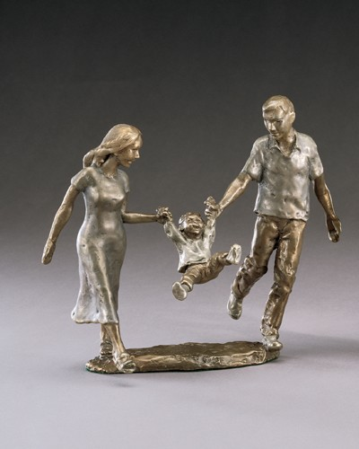 Mark Hopkins 1,2,3 Jump Bronze Sculpture