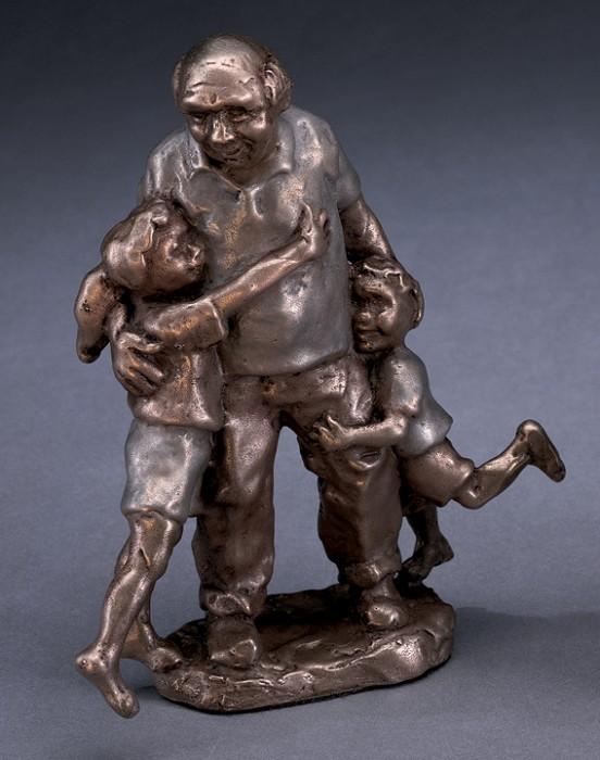 Mark HopkinsGrandpa!Bronze Sculpture