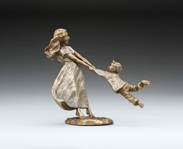 Mark HopkinsSwing Me (boy)Bronze Sculpture