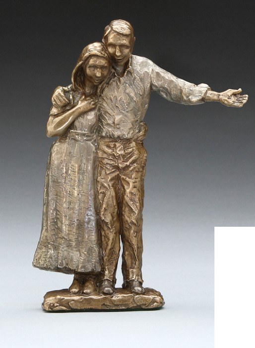 Mark Hopkins Proud Parents Bronze Sculpture