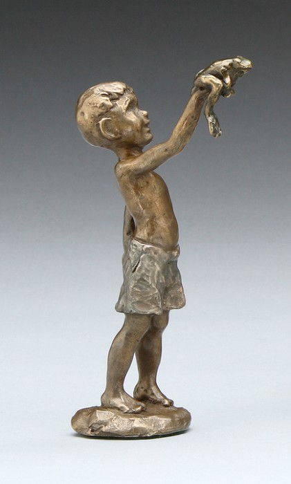Mark HopkinsFound a FrogBronze Sculpture
