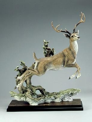 Giuseppe Armani Monarch Jumping Deer Signed By Giuseppe Armani