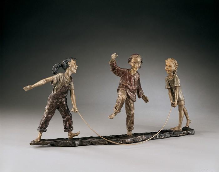 Mark HopkinsAfter SchoolBronze Sculpture