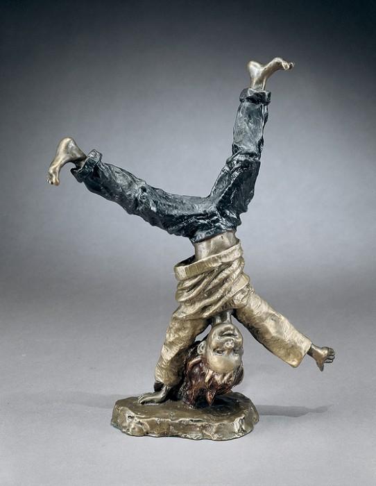 Mark HopkinsCartwheelingBronze Sculpture
