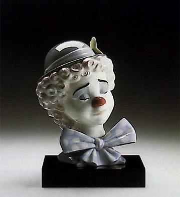 Lladro Sad Clown Porcelain Figurine
