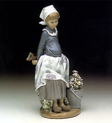 Lladro Little Dutch Gardner Porcelain Figurine
