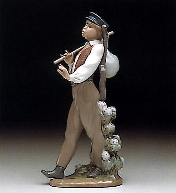 LladroWandering Minsteral 1990-93Porcelain Figurine