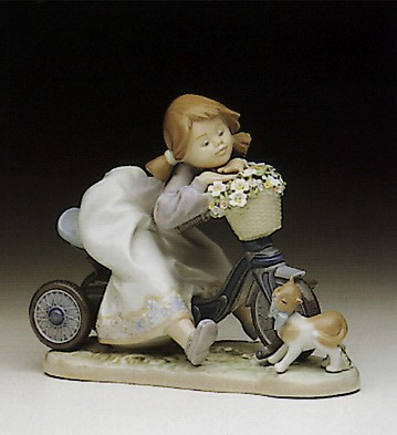 Lladro In No Hurry 1990-94 Porcelain Figurine