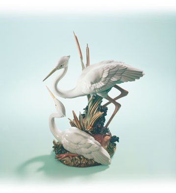Retired Lladro Marshland Mates With Base