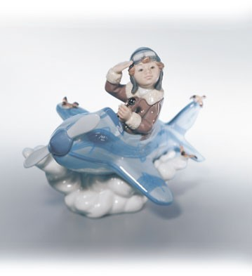 Lladro Over The Clouds Porcelain Figurine