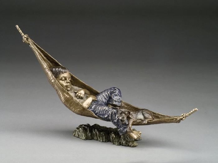 Mark HopkinsTuckered OutBronze Sculpture